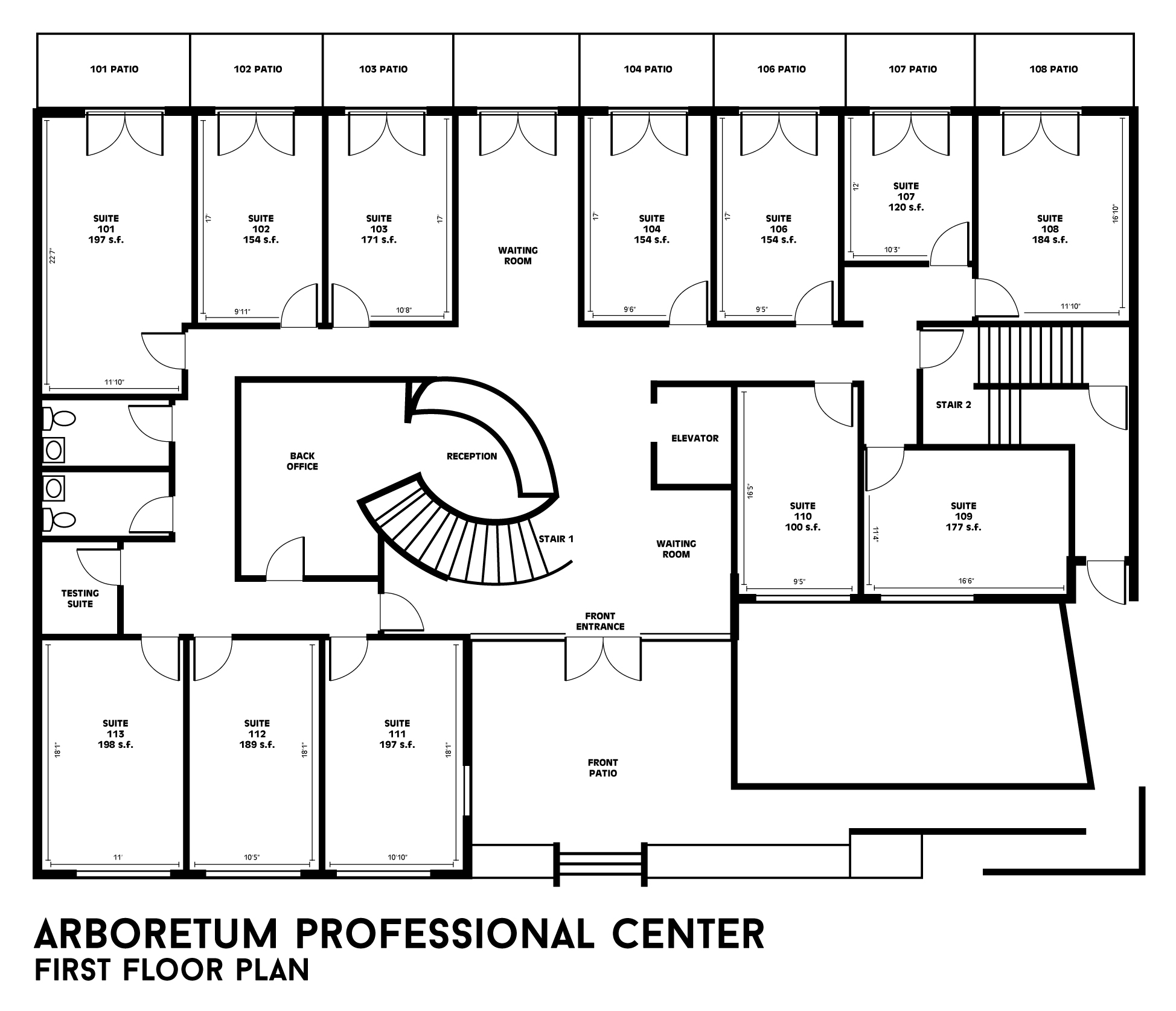 Building floor plans arboretum professional center for 2 floor building plan