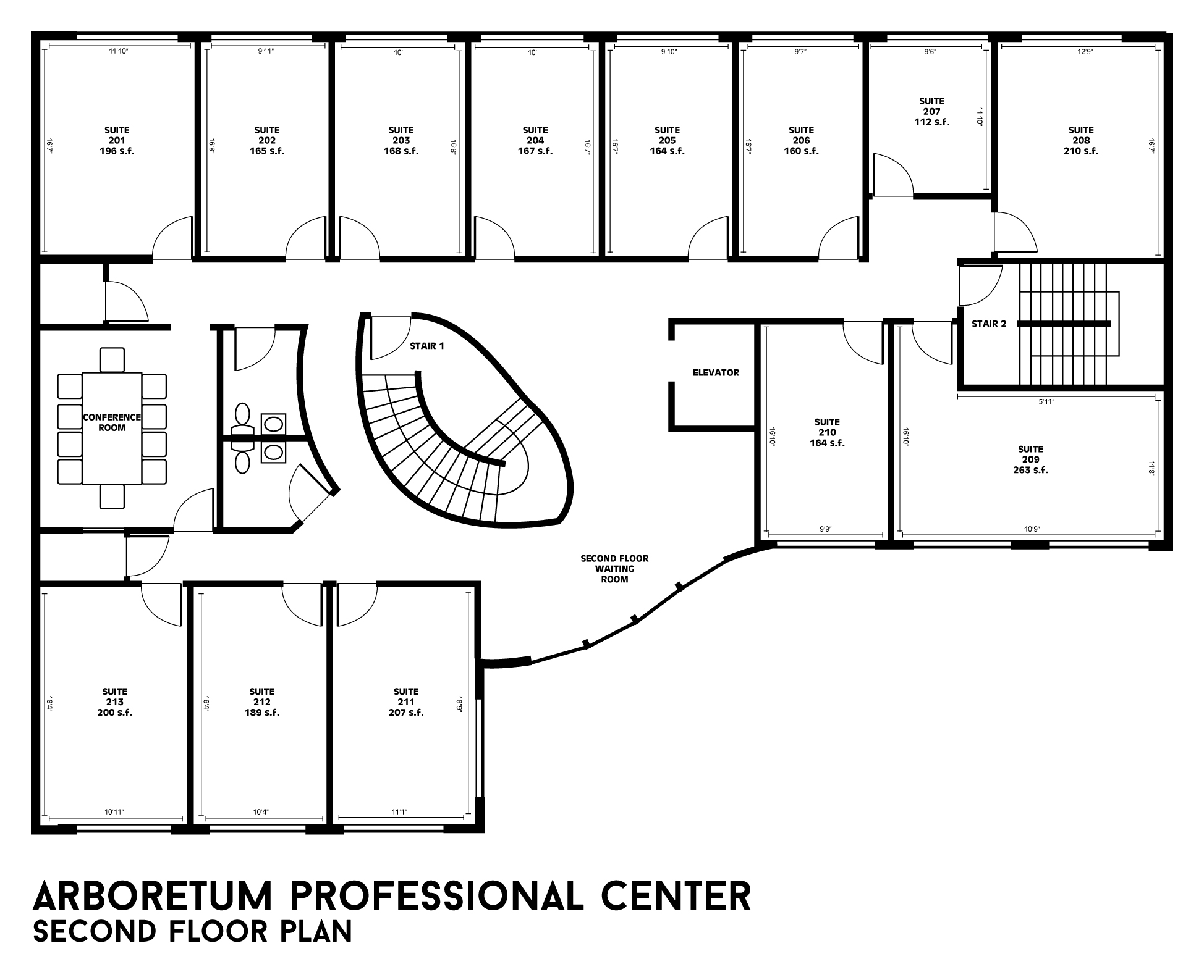 Building floor plans arboretum professional center Building floor plans