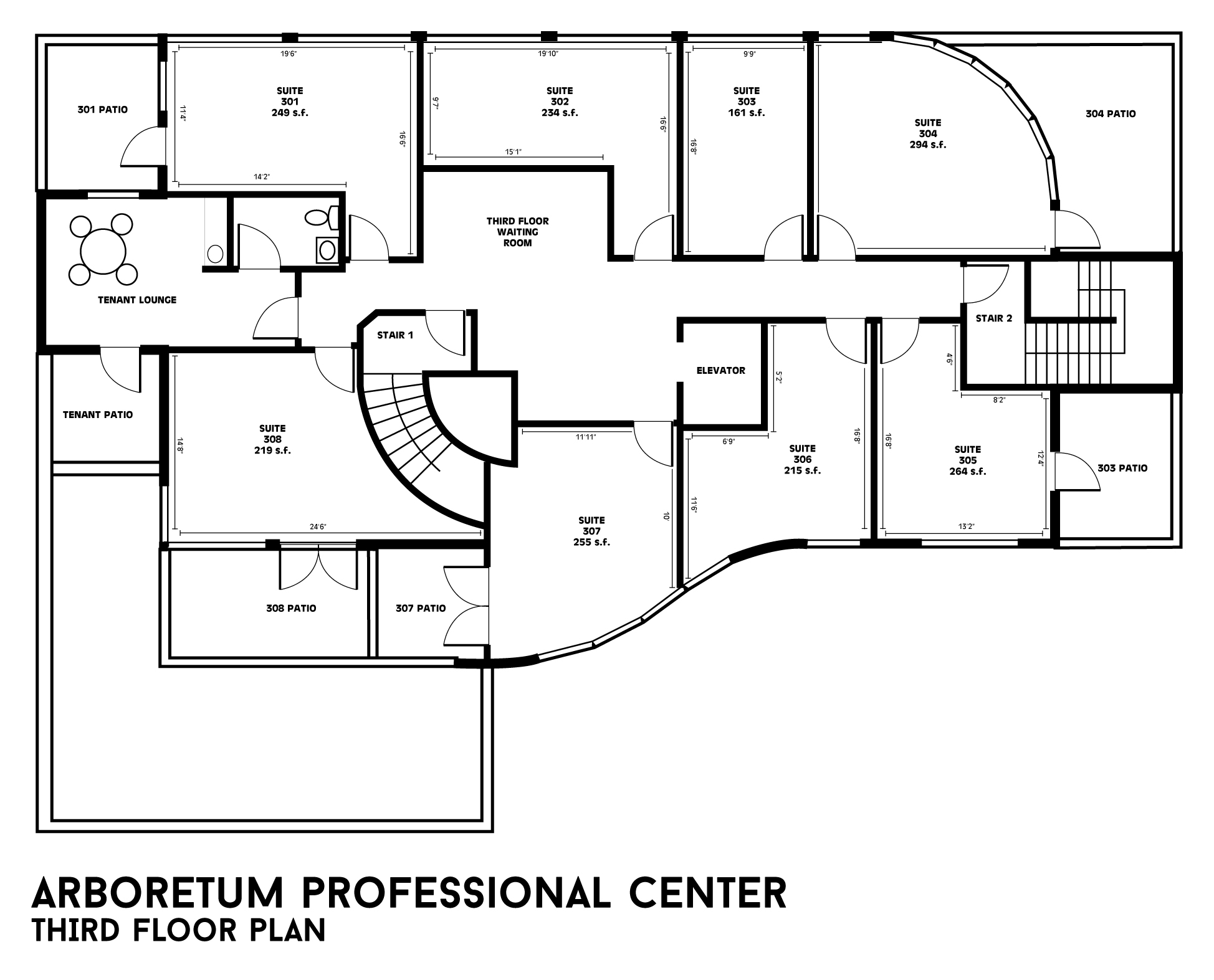 Building floor plans arboretum professional center Building plans